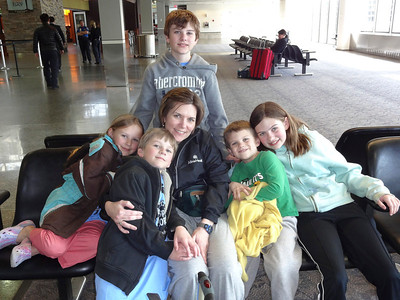 Me and my family before my first trip. Kids Calen, Miriam, Isaac, Sarah, and Jacob.