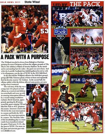 Prowler Magazine Jan 2012 Belk Bowl 2011