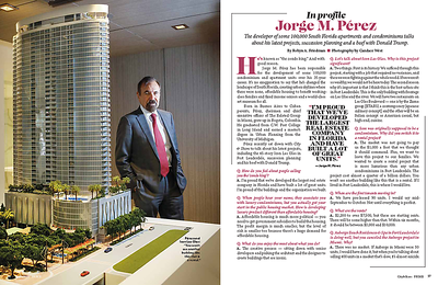 Jorge Perez runs Related Group of Florida, which claims to have developed more than 80,000 condos, mostly in Miami, since it was founded in 1979. Photo by Candace West/ALL RIGHTS RESERVED