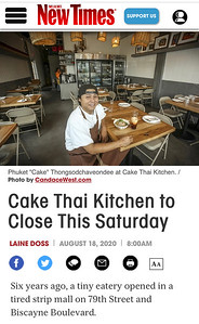 It's so sad to see Cake Thai Kitchen close. #FoodPhotographer #CandaceWest.com #CandaceWest #CandaceWestPhotography #SouthFloridaPhotographer #SouthFloridaEditorialPhotographer #MagazinePhotographer