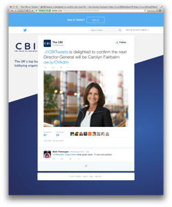 Carolyn Fairbairn appointed as new CBI Director General