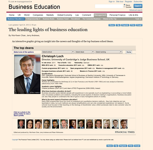 www.ft.com - Portrait of Christoph Loch for an interactive app of top deans at world leading business schools. 2012