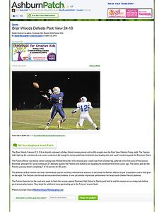 2010-10-23 -- Briar Woods Defeats Park View 24-10 - Ashburn, VA Patch