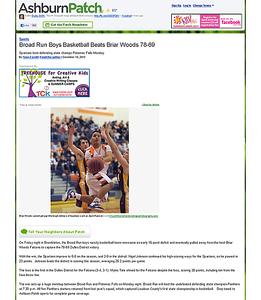 2010-12-18 -- Broad Run Boys Basketball Beats Briar Woods 78-69 - Ashburn, VA Patch