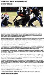 2010-11-19 -- Gabe Sosa Makes Major Impact