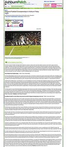 2010-11-26 -- Regional Football Championships in Ashburn Friday Night - Ashburn, VA Patch