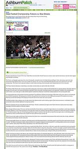 2010-12-10 -- State Football Championship–Falcons vs Blue Streaks