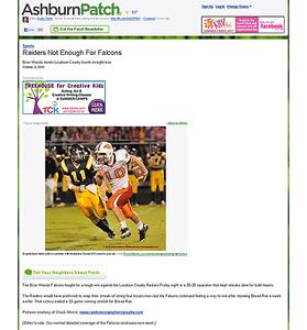 2010-10-09 -- Raiders Not Enough For Falcons - Ashburn, VA Patch