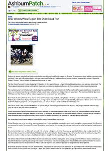 2010-11-27 -- Briar Woods Wins Region Title Over Broad Run - Ashburn, VA Patch