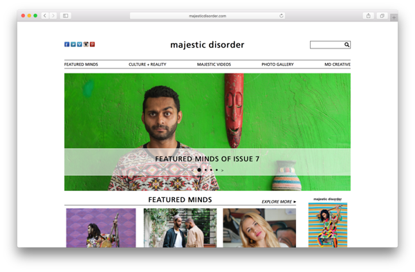 MajesticDisorder.com first page