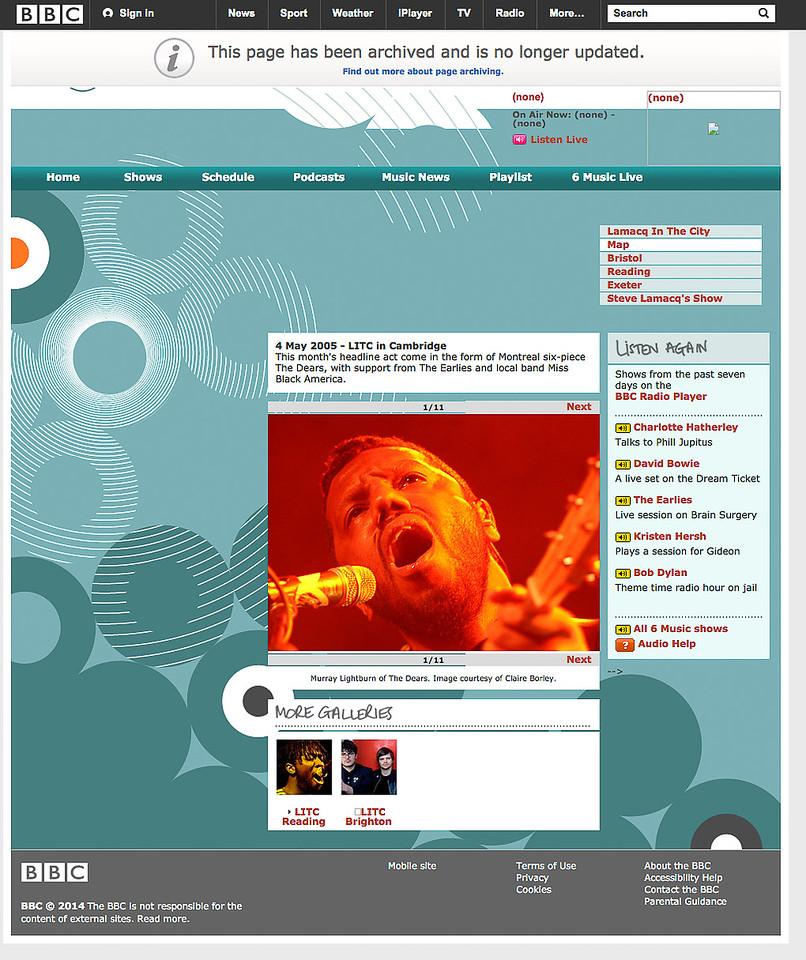 The Dears, BBC