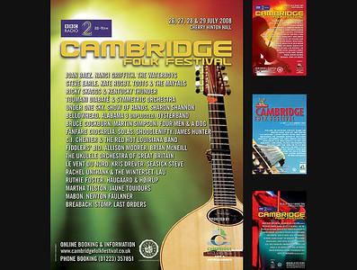 Cambridge Folk Festival Posters
