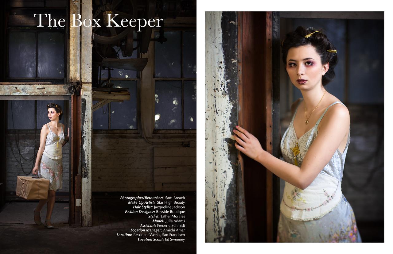 The Box Keeper by Sam Breach for SALYSÉ Magazine, March/April 2015