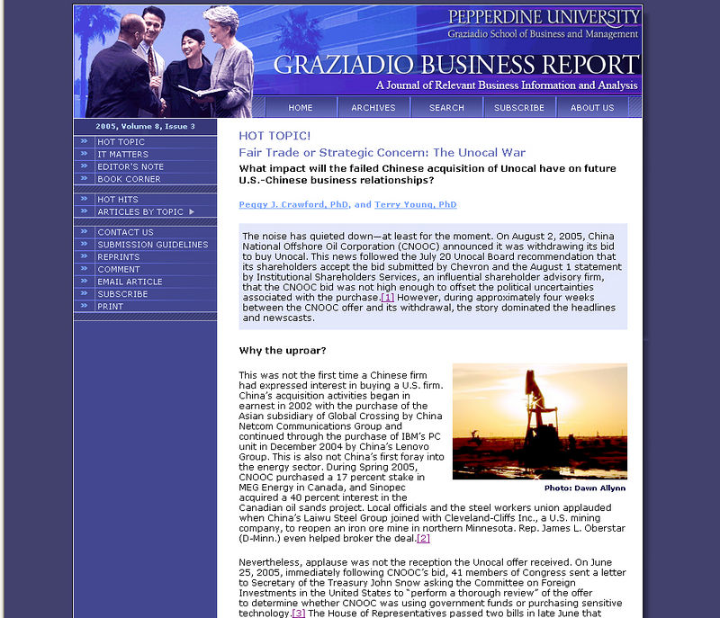 """Photo """"Texas Oil"""" used by the Graziadio Business Report, Pepperdine University.  <br /> <br /> <br /> <br /> <br /> <br /> <br /> <br /> <br /> <br /> <br /> <br /> <br /> <br /> <br /> <br /> <br /> <br /> <br /> <br />  <a href=""""http://gbr.pepperdine.edu/053/hottopic2.html"""">http://gbr.pepperdine.edu/053/hottopic2.html</a>"""