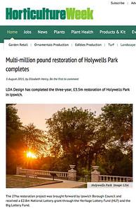 HorticultureWeek:  Holywells Park, LDA Design