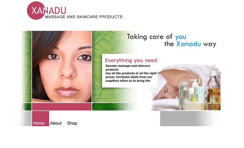"Photo used for website design, Xanadu Skincare Products: <a href=""http://www.massageskincareproducts.com/"">http://www.massageskincareproducts.com/</a>"