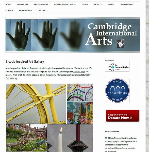 Bicycle Sculptures for Tour de France in Cambridge, Cambridge International Arts