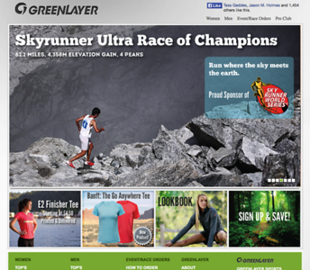 Kilian Jornet - Greenlayer Website