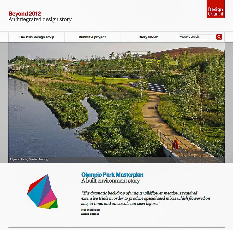 Beyond 2012 Design Council Exhibition:  2012 Olympic Park, LDA Design