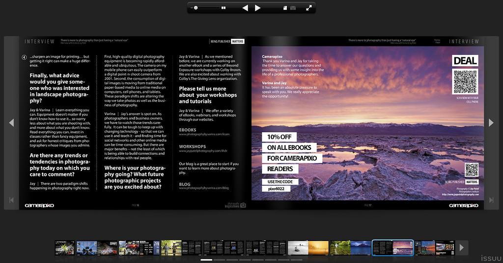 Camera Pixo Magazine - Interview with Varina and Jay Patel
