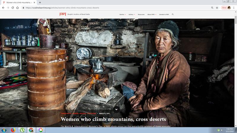 Women who climb mountains, cross deserts