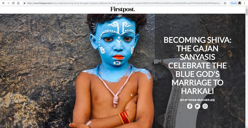 "<a href=""https://www.firstpost.com/long-reads/becoming-shiva-the-gajan-sanyasis-celebrate-the-blue-gods-marriage-to-harkali-6405251.html?fbclid=IwAR1yXK_wlKXp8Eda_UzLGeSOPE4QYpAiZFybl3rQY8a_fTfM_MN2HjOf6cg"">https://www.firstpost.com/long-reads/becoming-shiva-the-gajan-sanyasis-celebrate-the-blue-gods-marriage-to-harkali-6405251.html?fbclid=IwAR1yXK_wlKXp8Eda_UzLGeSOPE4QYpAiZFybl3rQY8a_fTfM_MN2HjOf6cg</a>"