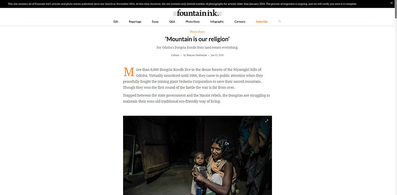 Mountain is our religion I Fountain Ink I June issue