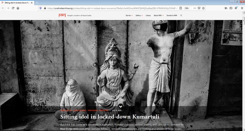 Sitting idol in locked-down Kumartuli - 08/07/2020
