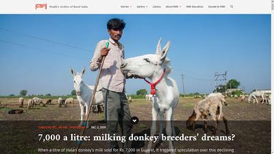 7,000 a litre: milking donkey breeders' dreams?  I  2nd December 2020
