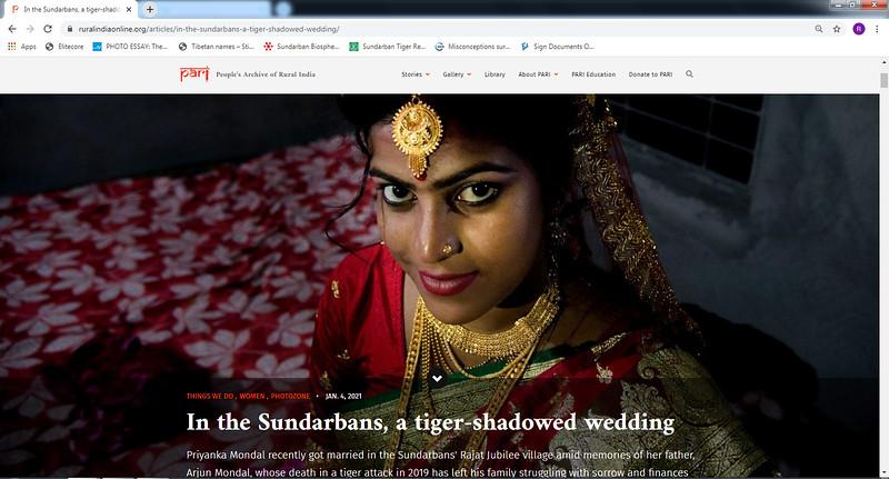 In the Sundarbans, a tiger-shadowed wedding I  04/01/2021