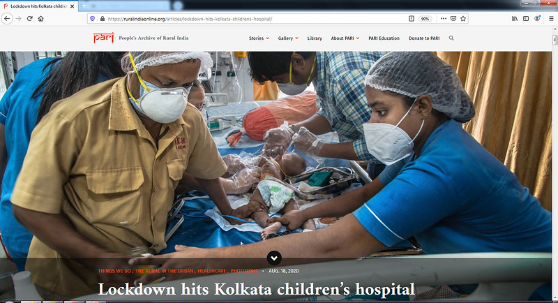 Lockdown hits Kolkata children's hospital I 18.08.2020
