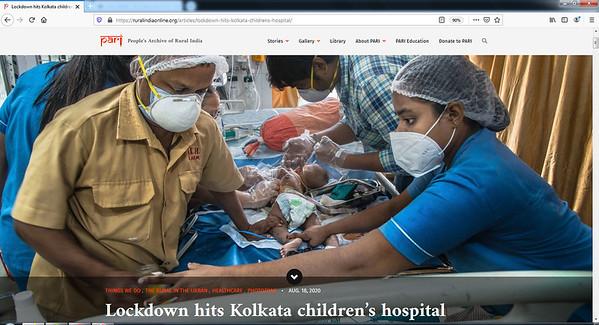 Lockdown hits Kolkata children's hospital I 18.08.2020