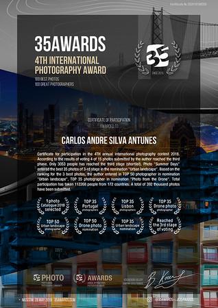 35AWARDS Certificate