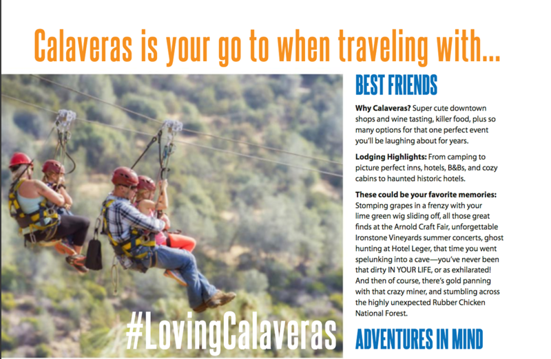 Zip Lining for Calaveras Tourism