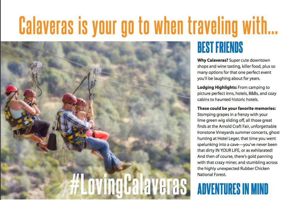 Zip Lining for Calaveras Tourism