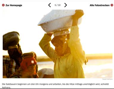 Der Spiegel - Saltpan workers of India