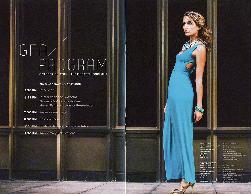 2013 Governor's Fashion Awards Program