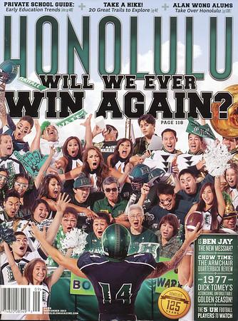 Honolulu Magazine - September 2013 Cover