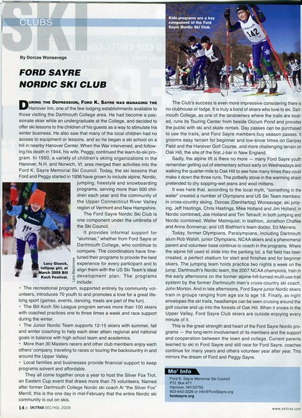 Ford Sayre Nordic Ski Club