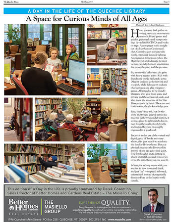A Day In the Life of The Quechee Library