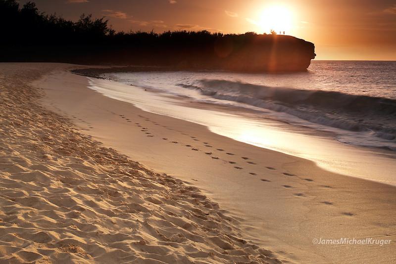 Shipwreck beach in Po'ipu on the island of Kauai.