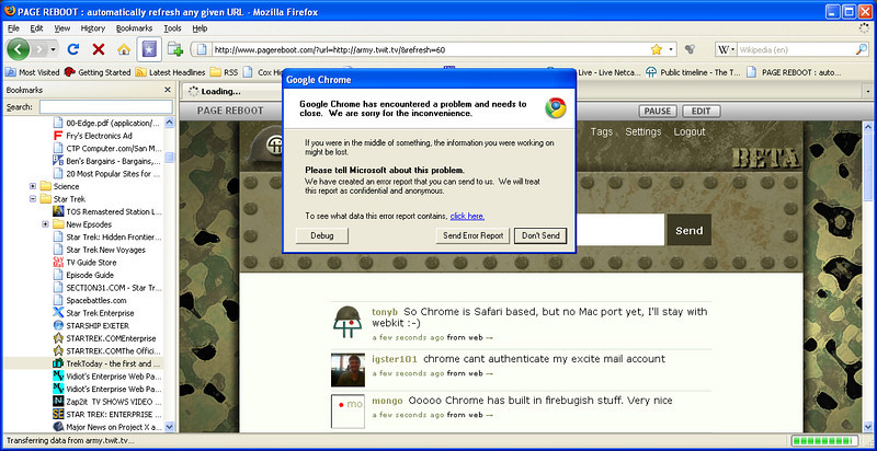 Totaly took out Chrome... It all went away!
