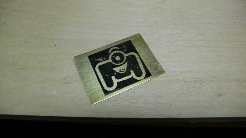 Used old toner method on transparency... Well it some what ok.... But not bad! ^_^<br /> <br /> Material is .005 Brass sheet... Wanted something I could etch and trim with my scissors.