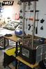 Vorshlag's shock dyno station with Roehrig 2VS dyno and custom built dyno table.