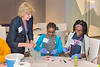 Debbie Opiekum assists with Techbridge Girls STEM learning experience (DNA extraction from a strawberry) led by Leidos employees on November 29, 2016 in the Leidos Conference Center in Reston, VA. Photos can only be used for editorial purposes.