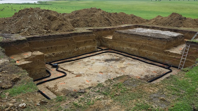 "Drain Tile Inside And Outside Walls - 6"" Rock Footing, 4"" Rock For Slab"
