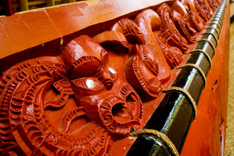 Maori Waka Carving, Waitangi Treaty Grounds, Bay of Islands