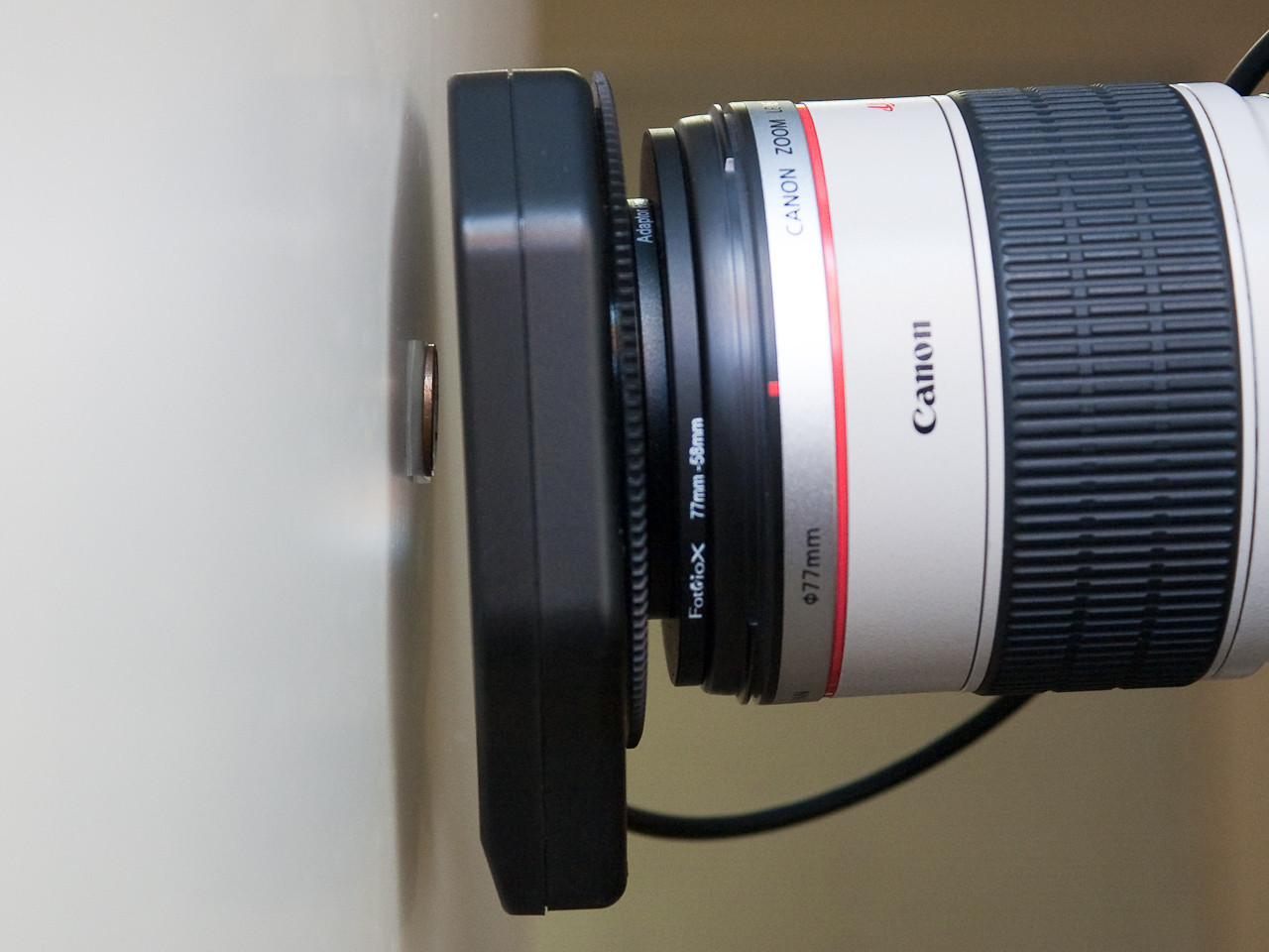 Working distance with the lens at 90mm