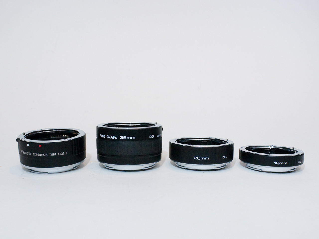 Canon 25mm plus Kenko 36mm, 20mm and 12mm extension tubes