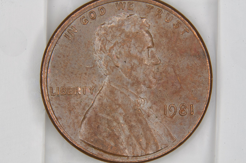 Penny with lens at 125mm focal-length